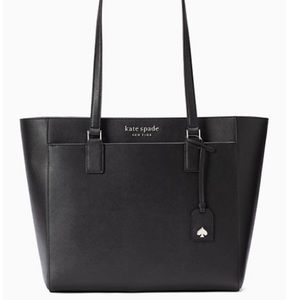 Kate Spade Leather Cameron Black Large Laptop Tote